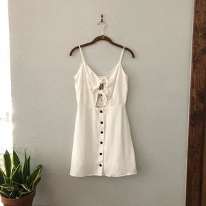 Lost + Wander White Front Tie Dress NWT